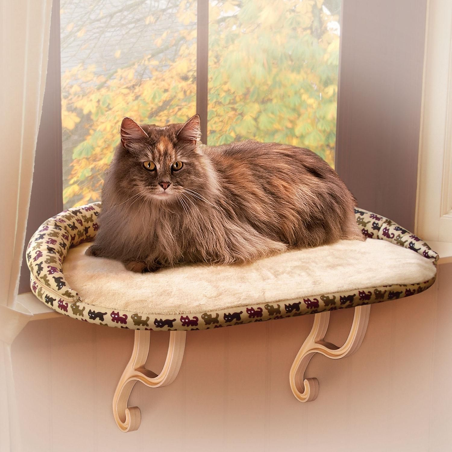k kitty sill bolster deluxe cat window perch cat perches. Black Bedroom Furniture Sets. Home Design Ideas