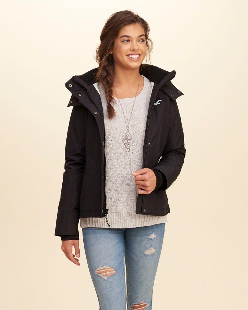 Hol 143631 05 Model1 800 1000 Line Jackets Jackets Girls Jacket [ 1000 x 800 Pixel ]