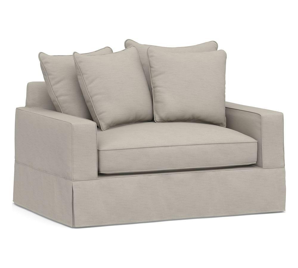 Amazing Pb Comfort Square Arm Slipcovered Twin Sleeper Sofa With Download Free Architecture Designs Ferenbritishbridgeorg