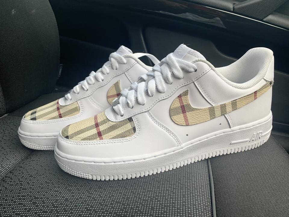 Custom burberry 19 air force 1 in 2020 Air force shoes