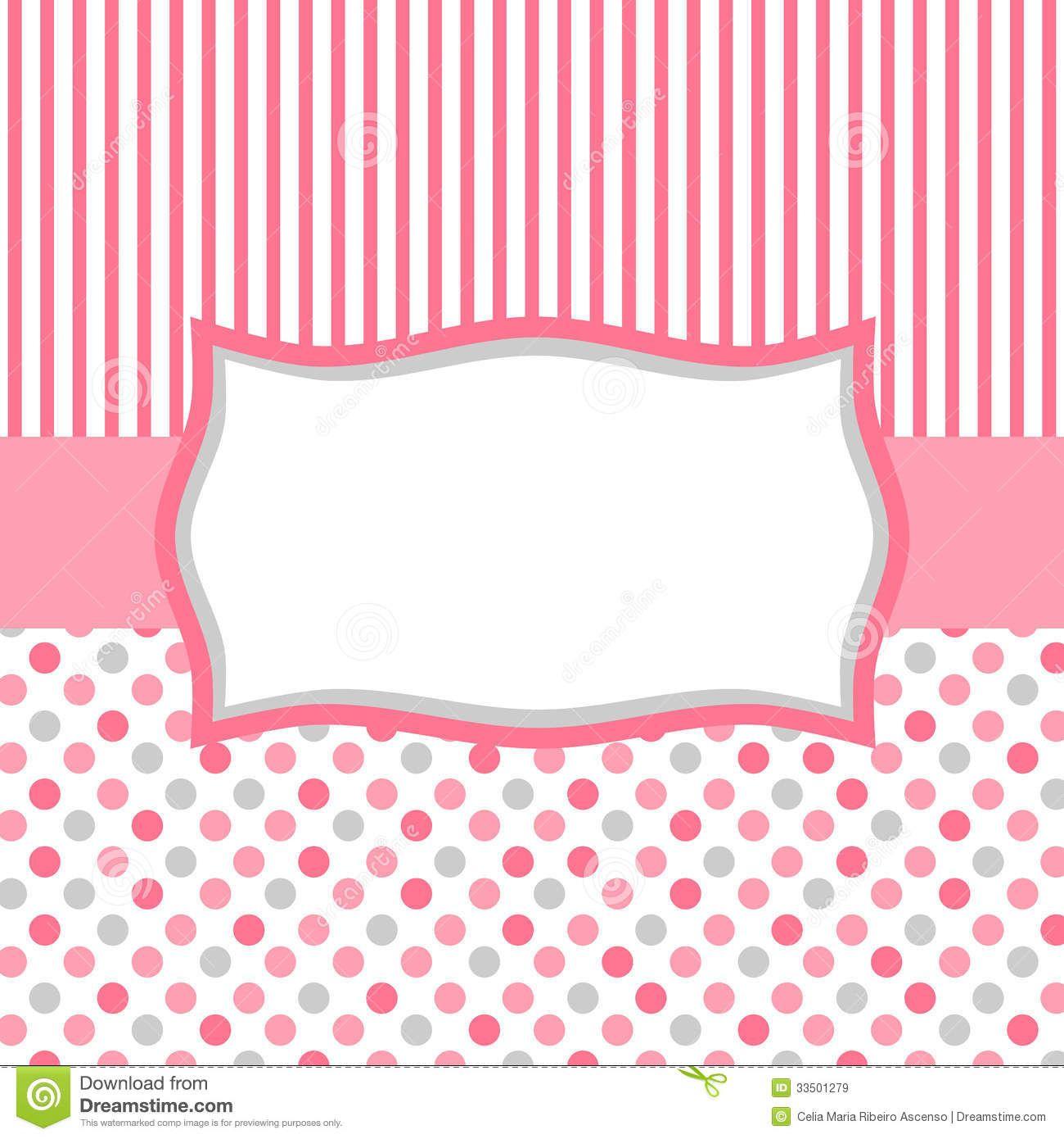 invitation card color pink Square invitation card or tag