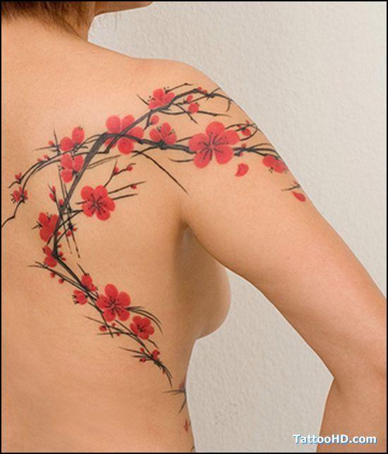 Quelle Est La Signification Des Tatouages De Fleurs De Cerisier Tatouage De Fleurs De Cerisier Tatouage Fleur Tatouages Colores
