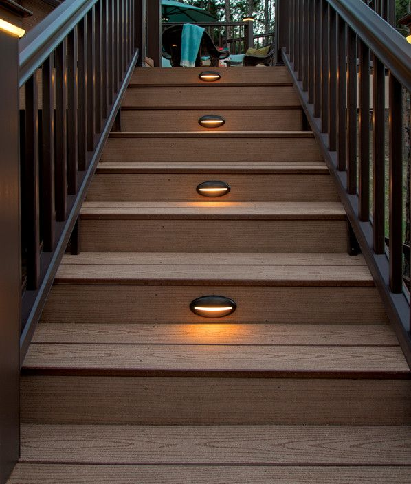 Deck rail lighting led deck lights timbertech