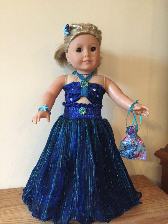 American Girl Blue Siren Mermaid | Mädchen, Blau und Puppen