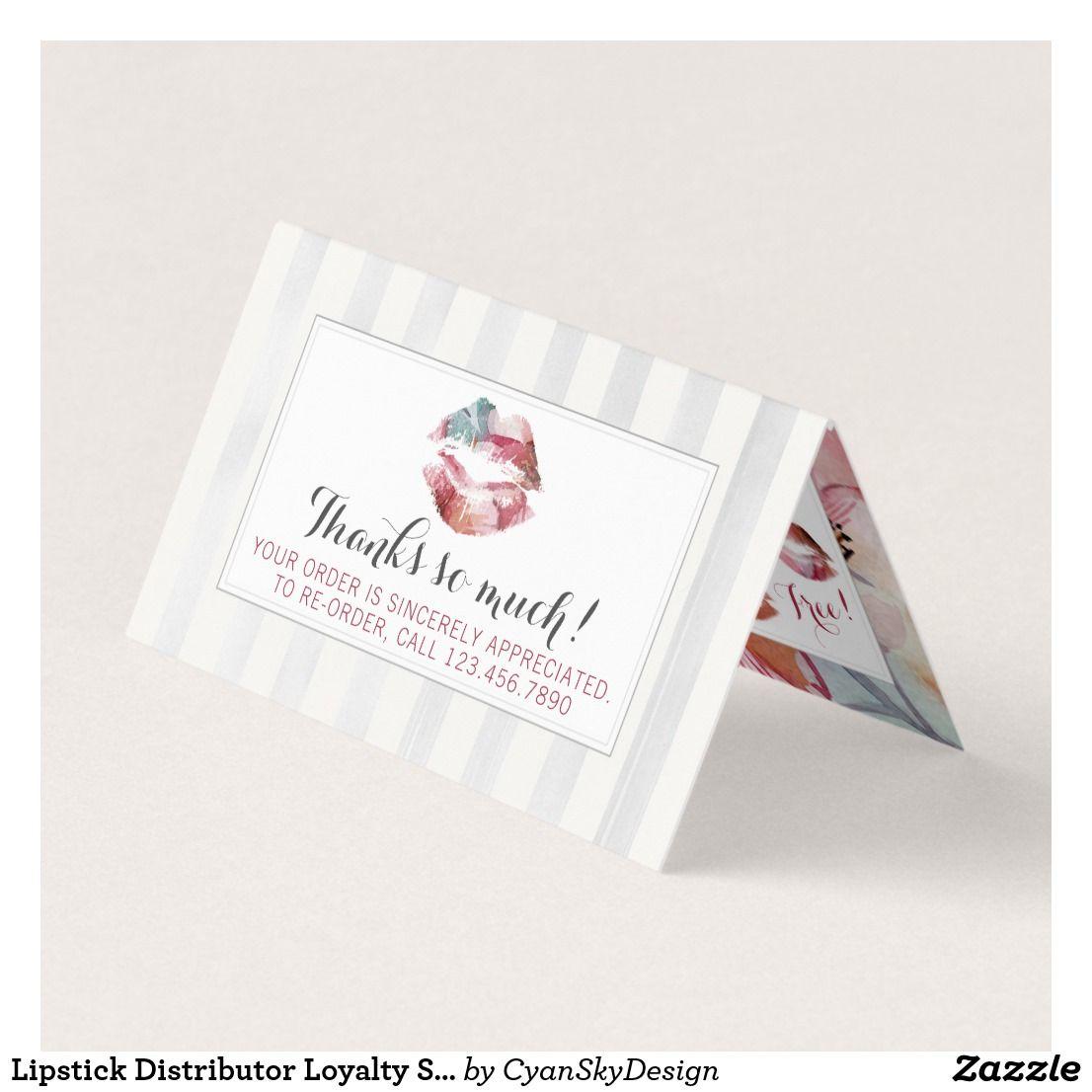 Lipstick Distributor Loyalty Stamp Kiss Thank You Lipsense