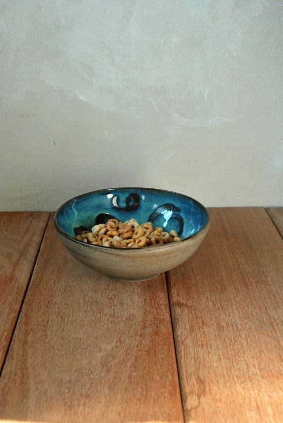 Turquoise Decorative Bowl Turquoise Ceramic Bowl Decorative Bowl Personal Soup Bowl