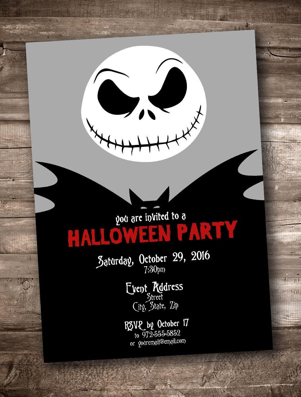 Jack Skellington Party Invitation *Personalized Digital