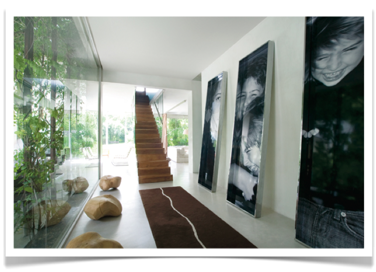:: WALLS :: love the oversized framed photography ... #walls