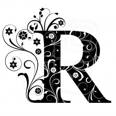 Letter Capital R Alphabet Arabic Art