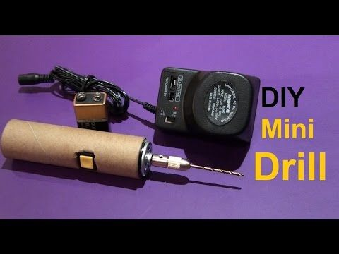 DiY Mini Drill Works with 9 Volt Battery & AC to DC Electric  Adapter