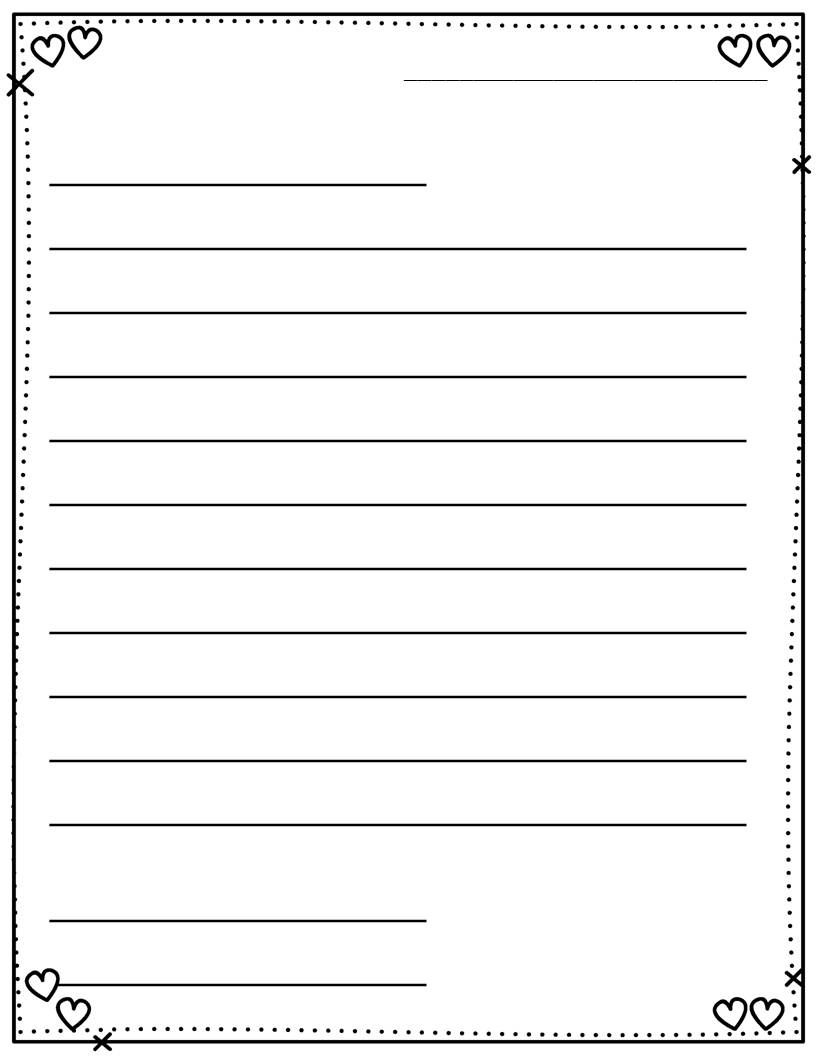 Free Adorable Letter Writing Templates  Different Versions And