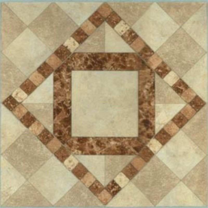 Rectangle Kitchen Floor Tiles: Classic Kitchen Interior Architecture Burlywood Patterned