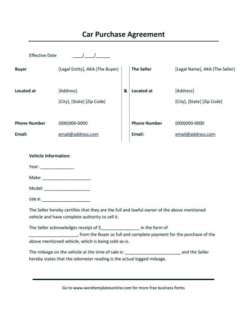 Down Payment Contract Template Lovely Car Payment Agreement Letter Exclusive Template Down Car Payment Car Purchase Contract Template