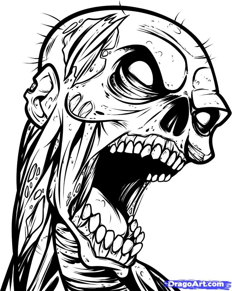 Zombie Drawing Google Search Patch Painting Ideas Zombie