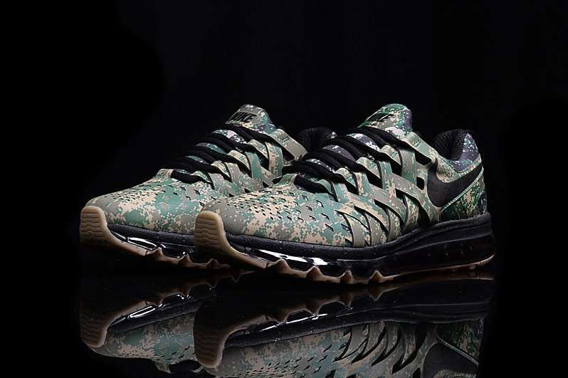 competitive price 41454 76907 Nike Fingertrap Air Max Men Knit Disruptive Pattern Green Shoes