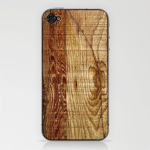 Wood Photography iPhone & iPod Skin. For tha boy