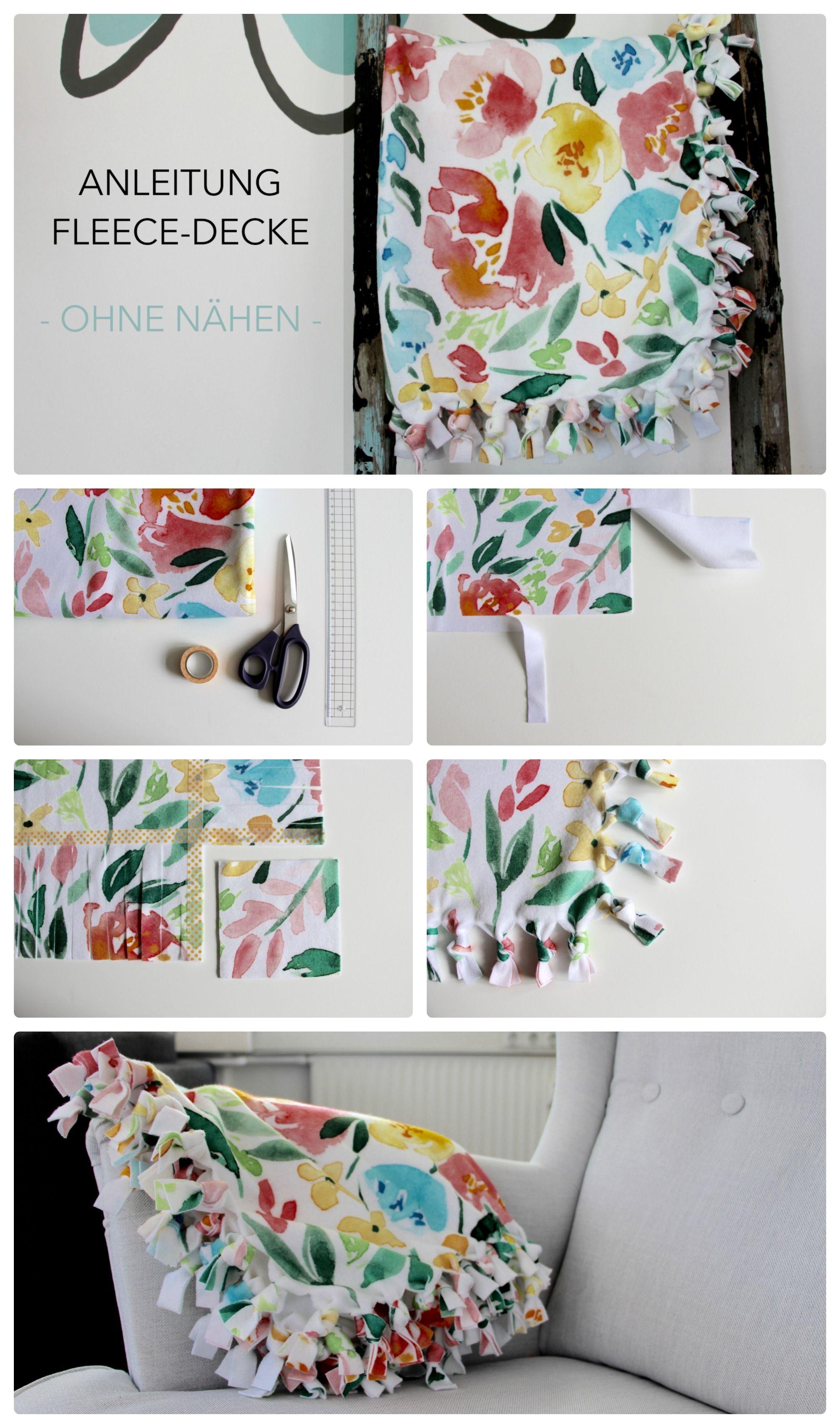 Einfache Anleitung für eine süße Baby-Decke aus einem Yard Fleece ...