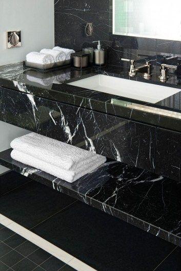 48 Stunning Black Marble Bathroom Design Ideas Dengan Gambar
