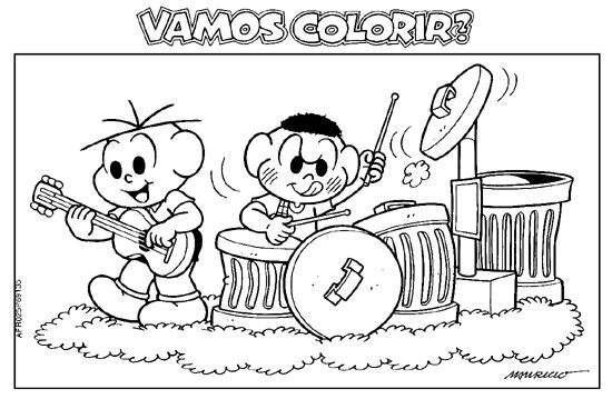 Colorir Turma Da Monica 2868 29 Jpg 550 359 Pixels Monica Para