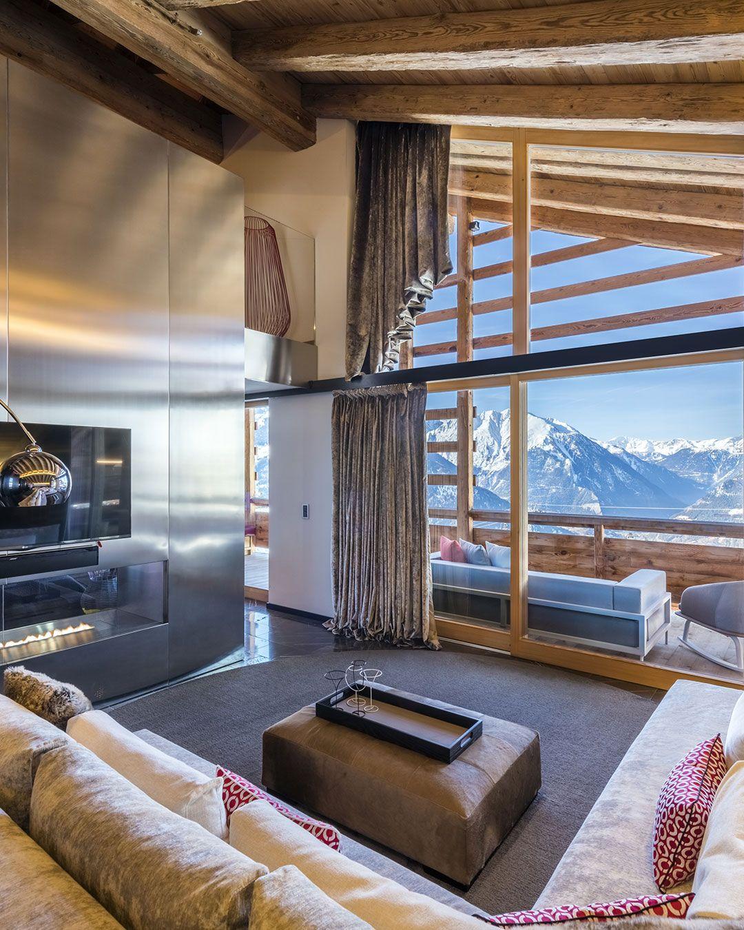 W Verbier Hotels In Heaven Switzerland Hotels Hotel Chalet Interior W living room verbier