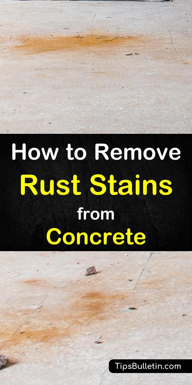 How To Remove Rust Stains From Concrete Easy Diy