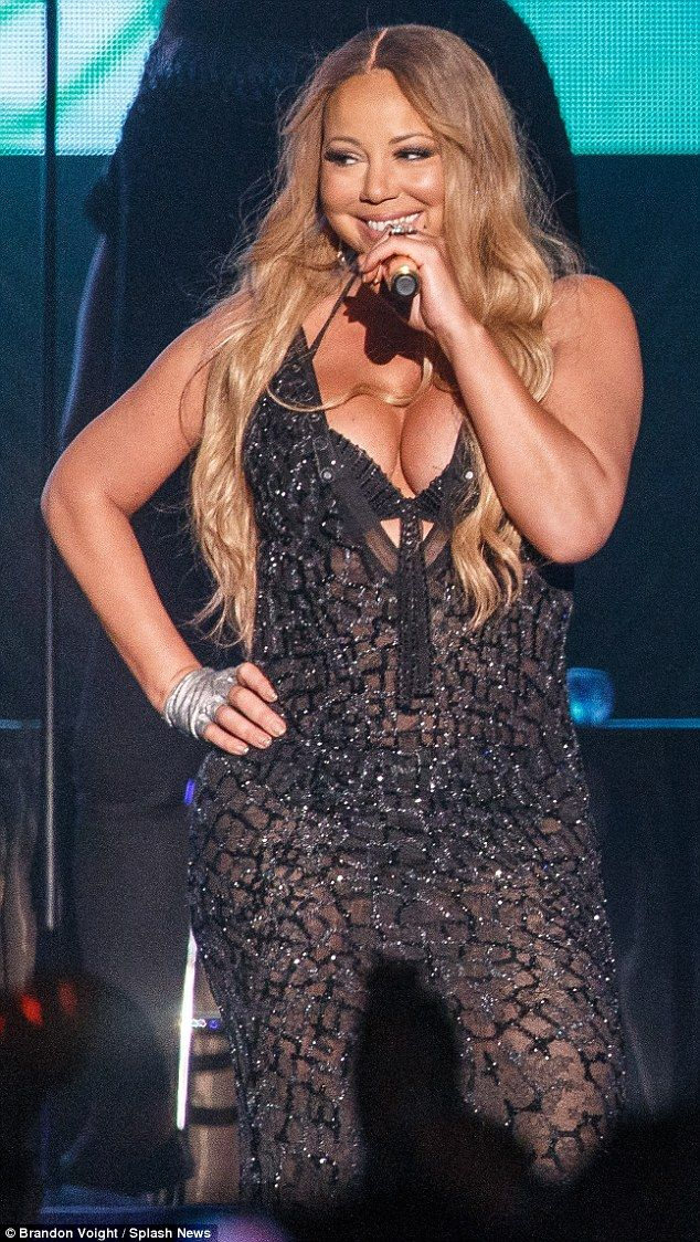 Mariah Carey Wears No Underwear in Sheer White Dress