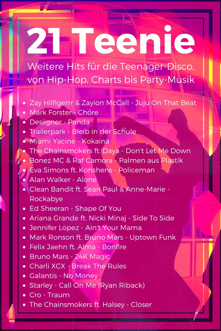 21 und mehr Lieder