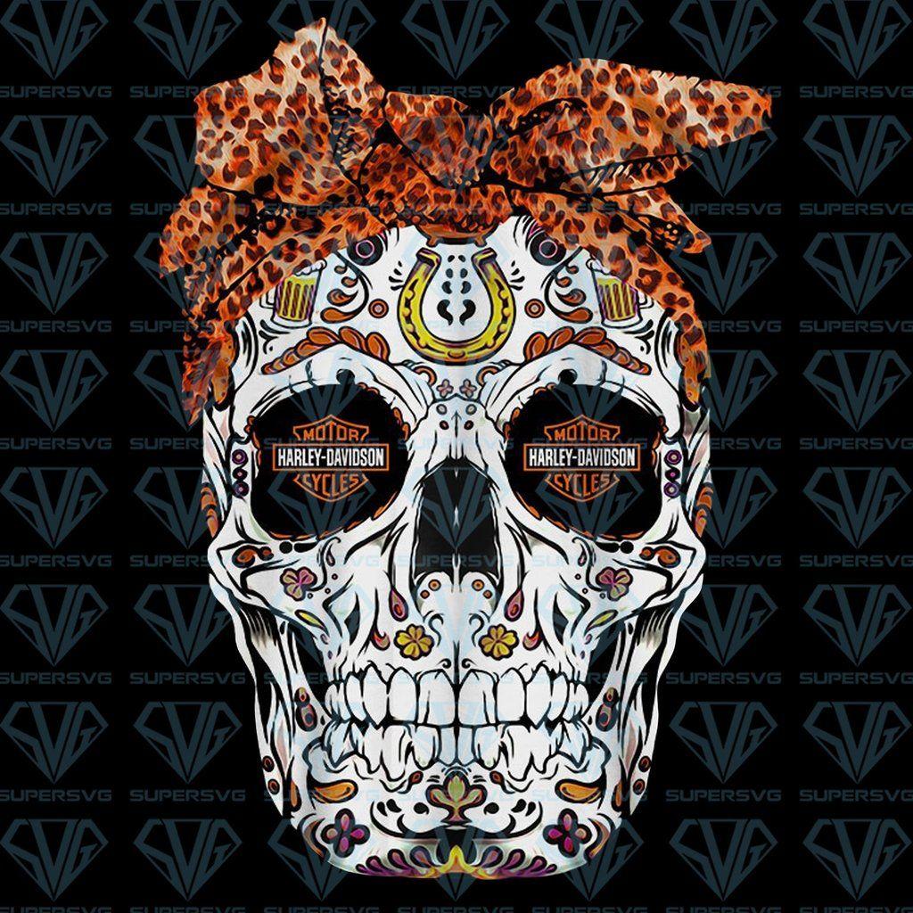 Skull Harley Harley Png Instant Download Supersvg Harley Sugar Skull Images Harley Davidson
