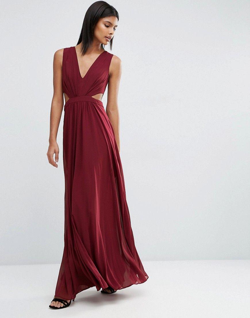 ASOS – Maxikleid mit seitlichem Cutout | Elegant Dress | Pinterest