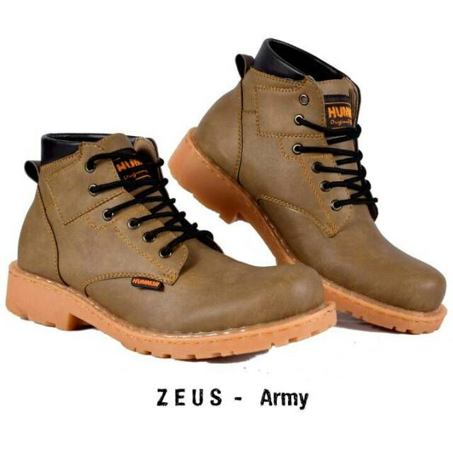 Zeus Hummer Original Sepatu Boot Pria Model Sepatu Boot Pria