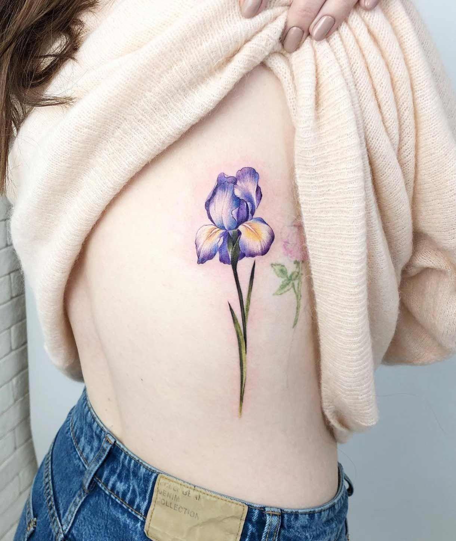 50 Gorgeous Tattoo Designs You Ll Desperately Desire Tattooblend Tattoos Gorgeous Tattoos Iris Flower Tattoo Iris Tattoo
