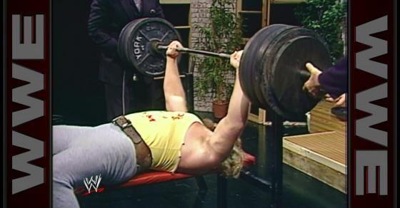 Big John Studd Attempts A World Record Bench Press January 31 1985 Bench Press World Records Pressing