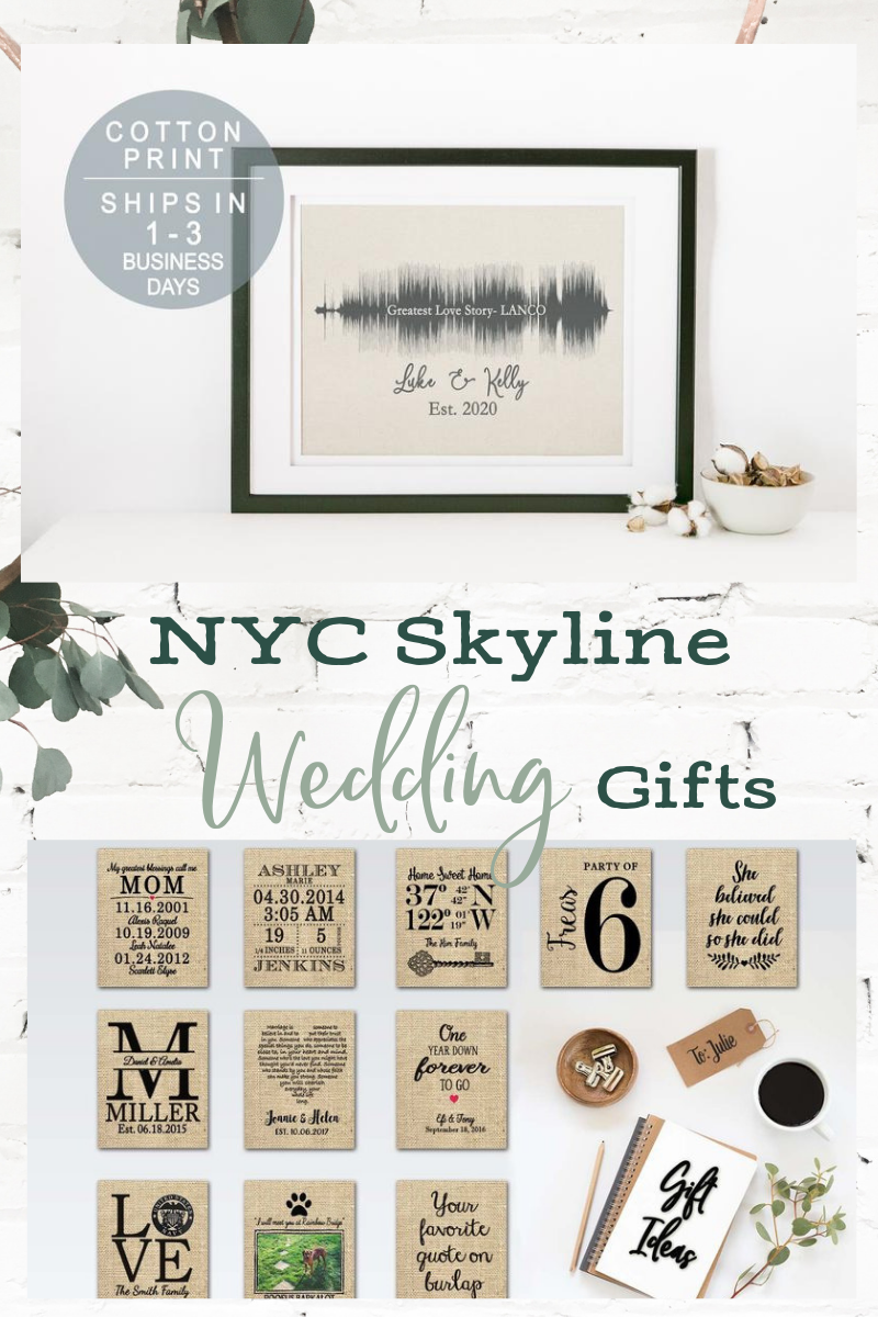 New York City Skyline Print Skyline Wedding Gift For Couple Etsy Wedding Gifts For Couples Couple Gifts Engagement Gifts For Couples