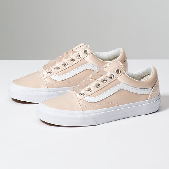 0972a2ae5cdcf8 Satin Lux Old Skool Rose Gold Shoes