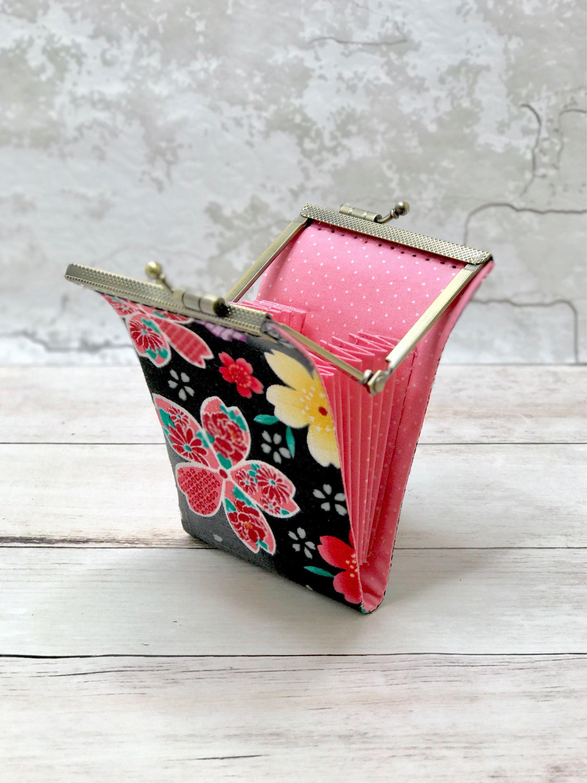 Business Card Organizer Wallet Sakura Japanese Fabric card holder