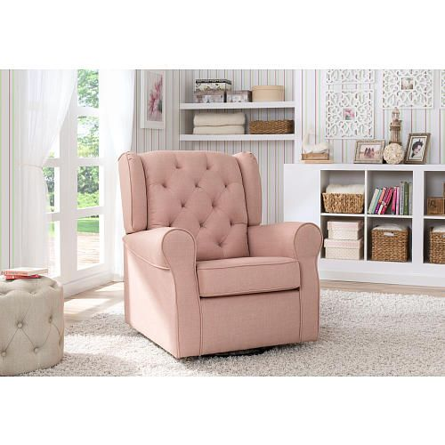 Delta Children Emma Tufted Glider - Blush - Delta - Babies \