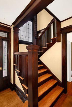 Craftsman staircase #craftsmanstylehomes
