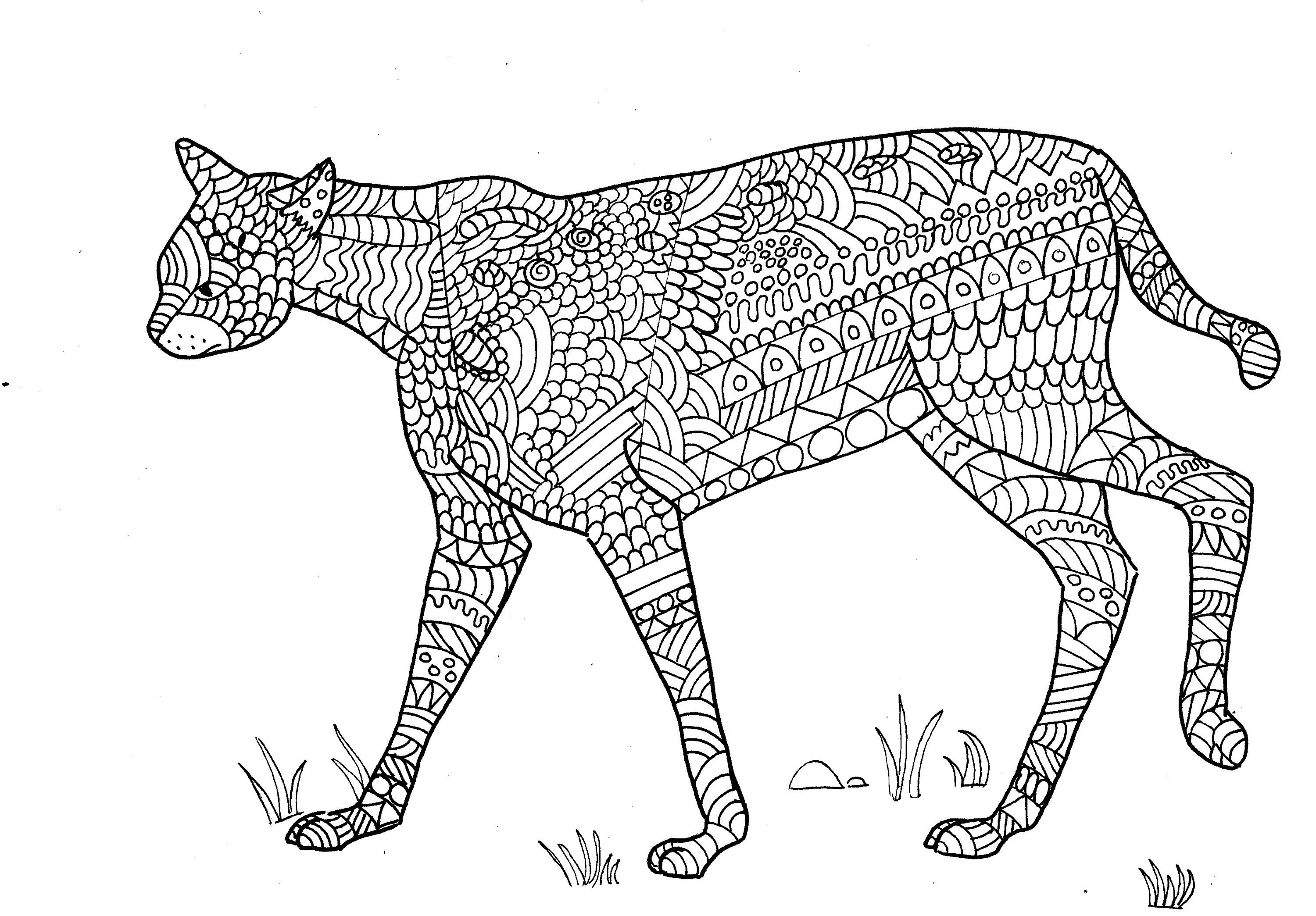 Serval Colouring Page, Digital product, digital download ...