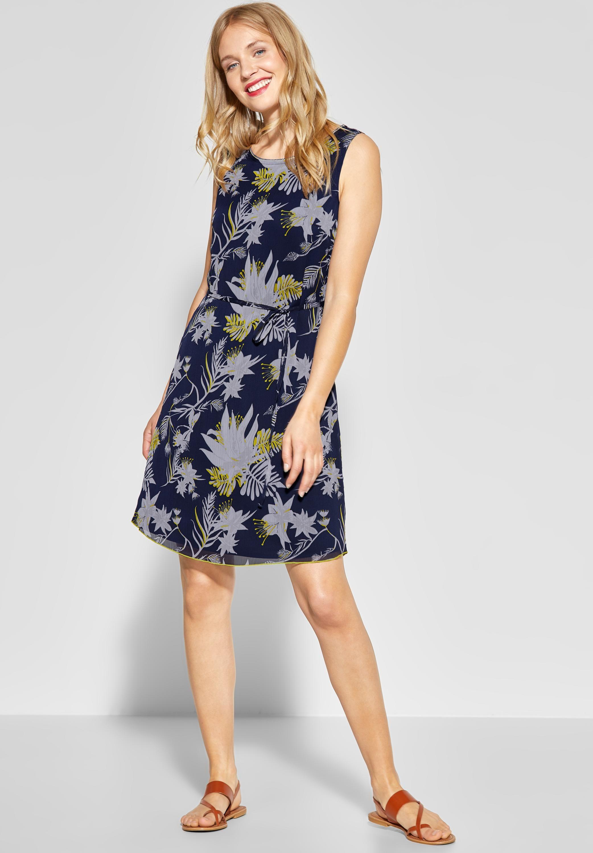 Street One Chiffon Kleid Mit Blumen In Deep Blue Sommer Kleider Kleider Damen Mode