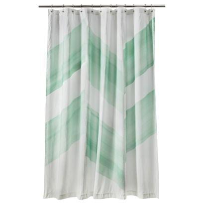 Nate Berkus Trade Color Block Shower Curtain Mint Mint Green