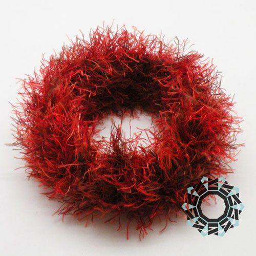 Fur bracelet (red) Futrzana bransoletka (czerwona