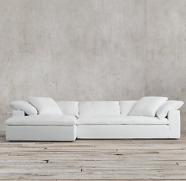 The Petite Cloud Track Arm Left Arm Sofa Chaise Sectional