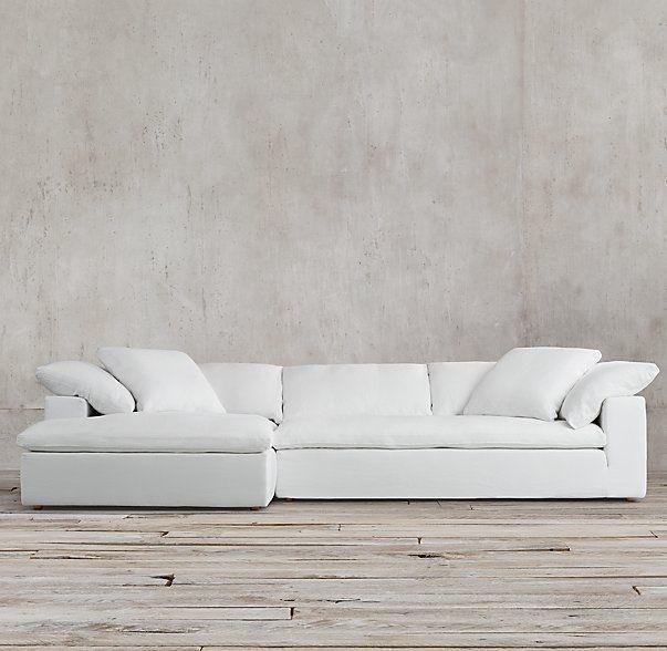 The Petite Cloud Track Arm Left Arm Sofa Chaise Sectional, Restoration  Hardware ($2695