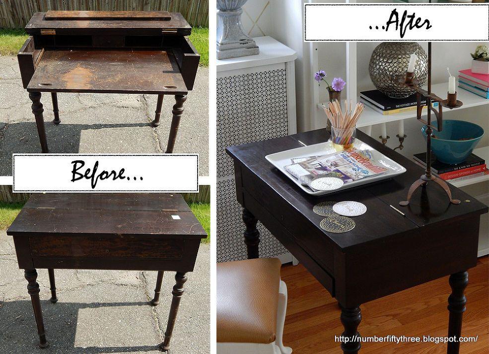 Hometalk :: Restored Antique Spinet Desk. I think this might work on my  mom's - Restored Antique Spinet Desk Desks, Repurposed Furniture And