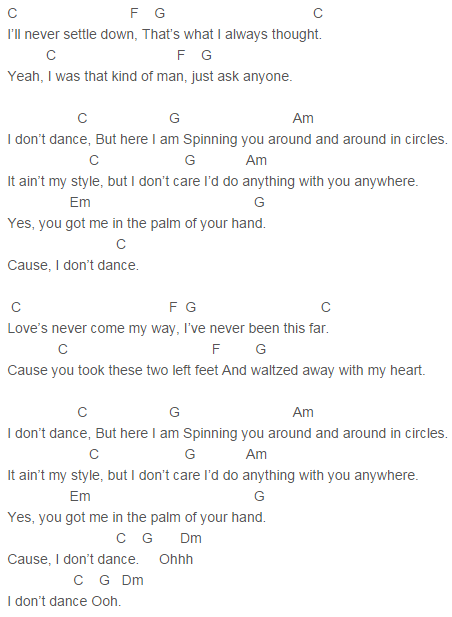 Lee Brice - I Don\'t Dance Chords Capo 1 | song lyrics | Pinterest ...
