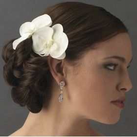 orchidee blanche coiffure