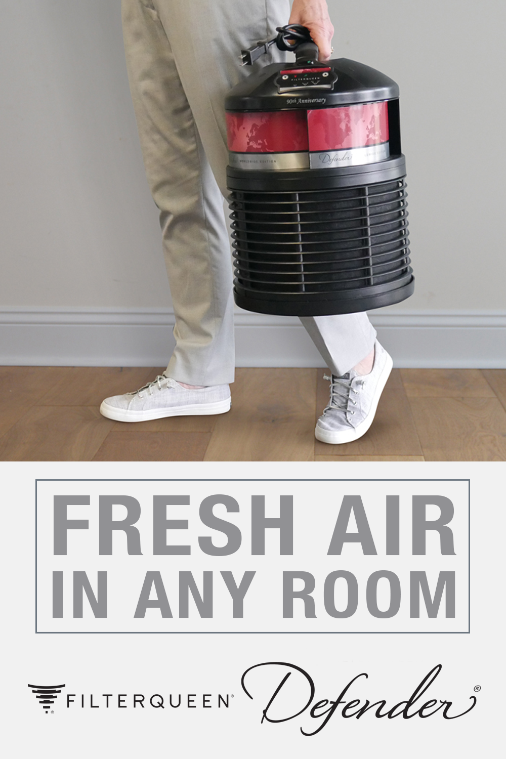 The FilterQueen Defender Air Purifier is designed to be
