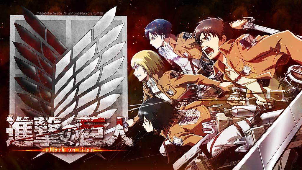 Shingeki No Kyojin Wallpaper 1366x768 By Megableachy