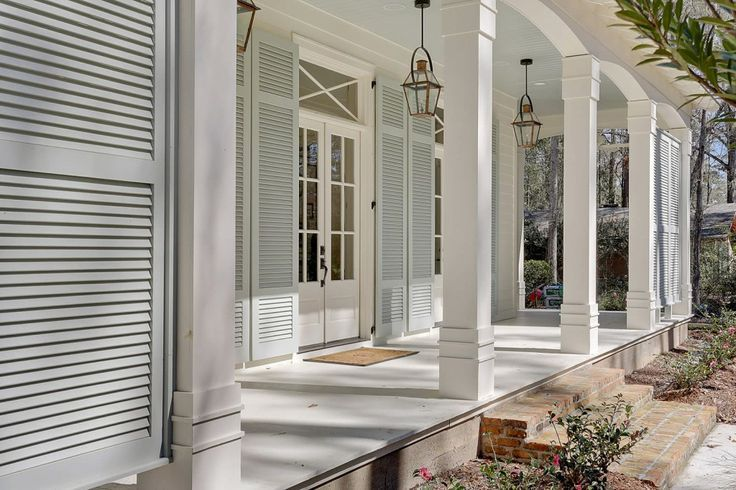 Plantation style home porches pinterest porch for Southern plantation shutters