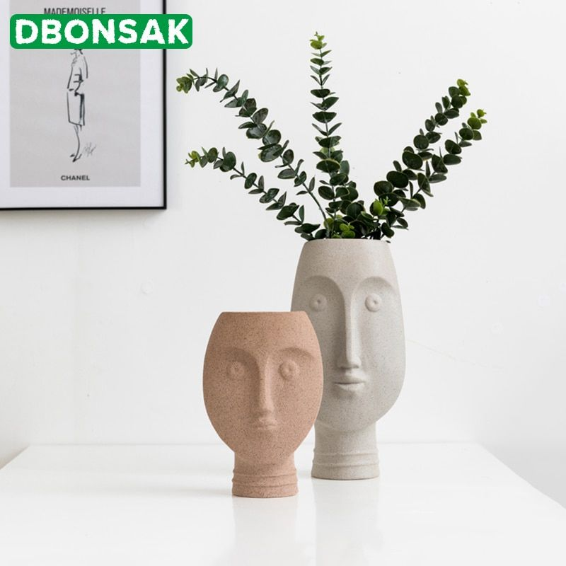 Cheap Flower Pots Planters Buy Directly From China Suppliers Nordic Ceramic Face Vases Ins White Ceramic Art Cr Cheap Flower Pots White Flower Pot Face Vase